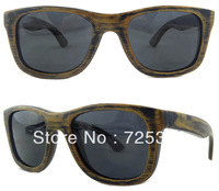 Free Shipping 2013 New Arrive Good Quality 100% Bamboo Wood Frame Polarized Sunglasses Men Z6016S