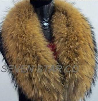 Genuine Raccoon Fur Collar big scarf neckwear women's accessories/Hot sale/Retail/Wholesale/Free shipping