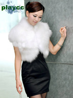 free shipping  Wholesale & retail  Playcc autumn and winter women fur waistcoat design short outerwear cape