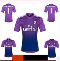 A+++ Thai Real Madrid 13/14 2013 2014 New Purple Iker Casillas  Soccer Jersey Cheap Football