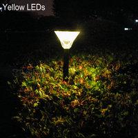 Wholesale Solar garden lawn light+100% solar power+16 LEDs+White/Yellow LEDs+24 pcs