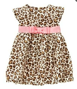 new fashion cotton baby summer girl princess leopard dresses
