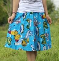 Free shipping women Short skirt linen bohemia skirt lady short half-length skirt