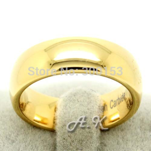 Tungsten Ring 18K Gold Plated Mens Wedding Band Bridal Ring Jewelry Size 12 FREE SHIP