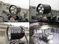 Free ship 1set Moto LED Work Spot Light 30W 3000 Lumen 4*Cree XML T6 4T6 LED Motorcycle Driving Light 12V-16VDC