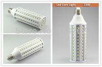 2pcs/lot High Brightness E27/E14/B22 23W 132LEDs SMD 5050 Corn Light Bulb Lamp Warm White / Pure White 220-240V/110V Free Ship