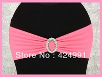 150pcs Light Pink  Lycra Chair Bands&Sash with Oval buckle ,Double Layer Lycra Bands&Sash for Weddings Events Decoration