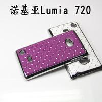 10 Colors Bling  Diamond Hard Case For Nokia lumia 720 phone case  for NOKIA  720 protective plastic case +Free Film