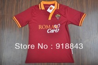 new arrival 2013/14 AS Roma home wine red soccer football jerseys , top thai quality Roma soccer uniforms free shipping