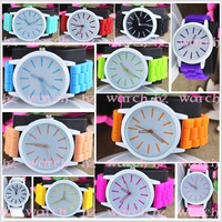 11 colors Ladies Watch Classic Gel Crystal Silicone Jelly watch 1pcs/lot
