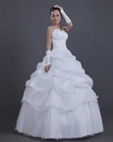 Top Selling 2013 White Wedding Dress,Off Shoulder Flower Bride Dress,High Quality Sweet Princess Bridal Dress