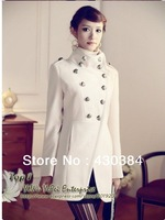 Women coat fashion overcoat/ Napoleon military uniform double breast winter coat /jacket outerwear/Military style Jacket