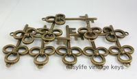 20pcs/lot 76mm  OLD Look Antique Skeleton Vintage Steampunk keys Assorted Styles Wedding Favor Gifts