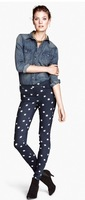 Women Fashion Star Prints Superstrench Skinny Pencil Trousers Ladies Pants TW1077-E02