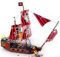 Banbao Pirate Ship 8702 Building Block Sets 850pcs Legoland Educational DIY Construction Bricks Toys For Children;FREE SHIPPING