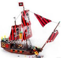 Banbao Pirate Ship 8702 Building Block Sets 850pcs Legoland Educational DIY Construction Bricks Toys For Children;FREE SHIPPING