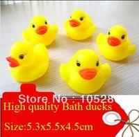 New Arrival High quality Bath ducks Safty bath toy hotsale PVC ducks Middle size 5.3x5.5x4.5cm 15pcs/lot  free shipping