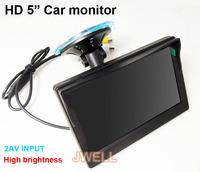 "HD 5 "" car rearview camera monitor 2 AV input DC 12V power supply input free shipping by china post"