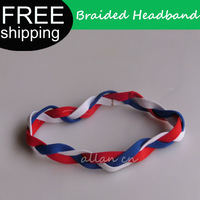 custom 2013 new elastic braided non slip colourful mini headbands for babies