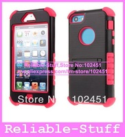 Heavy Duty Hybrid Impact Rugged Stand Silicone Hard Case Back Cover Pouch for iPhone 5C iPhone5C 50pcs/lot IP5CC62