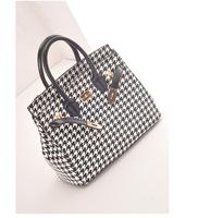 2014 New Designer Harajuku desigual Plaid Print shoulder  women bags , women faux leather handbags   sac a main hologram