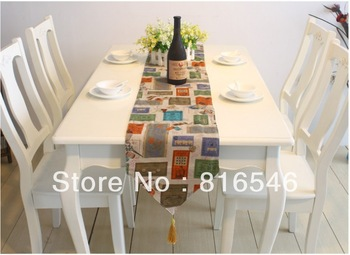 30cm*180cm flax table runner (Factory direct sales good taste western style )