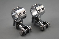 "Free shipping Motorcycle 1 1/4"" Engine Guard Footpeg Clamps Mounting Kit For Harley Davidson Metric"
