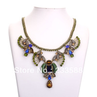 Free Shipping 2013 Statement Multilayer Star Flower Drop Pendant FAshionsemi-Precious Stones JC Designer Brands  Necklace