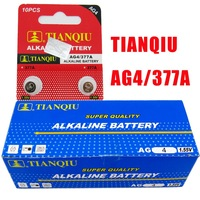 20pcs/LOT TIANQIU Brand AG4 LR626 337A 1.55V Coin Battery for Watch Calculator / Button Cell Batteries High Quality the Small