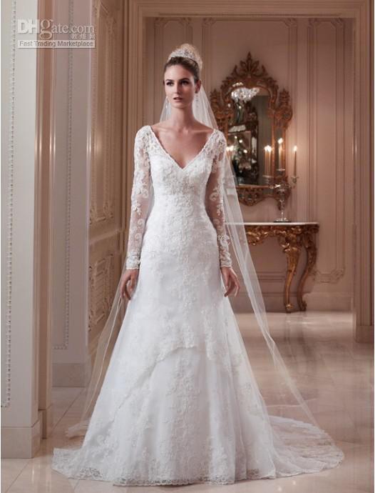 Mermaid Wedding Dresses Long Sleeves Long-sleeve-lace-mermaid