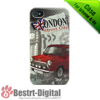 1Pcs Only,  Mini Cooper Design, Hard Skin Cover Case for iphone 4G/4S, Best Protection,Wholesale Price
