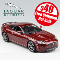free shipping high imitation Jaguar XJ XKR-S car model alloy metal 1:24 adult gift panoramic sunroof door open and wheel linkage