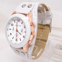 Wholesale High Quality Geneva Brand Leather Watch Women Ladies Fashion Dress Quartz Wristwatches