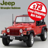 free shipping high imitation JEEP Wrangler Rubicon car model alloy metal 1:18 adult gift door open wheel linkage red only