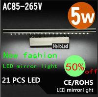 New Modern Stainless Steel Energy-Saving High-End LED Wall Light Bathroom Mirror Front Lamp Minimalist Lighting cc24