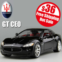free shipping high imitation Maserati GT CEO car model alloy metal 1:24 adult gift door open wheel linkage 2 color black&silver