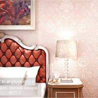 wallpaper free shipping , wallpaper girl , living room and bedroom fabric wallpaper for 7 color choice (pink )