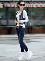 2014 new women's European and American fashion leisure suit Slim wild cowboy suit