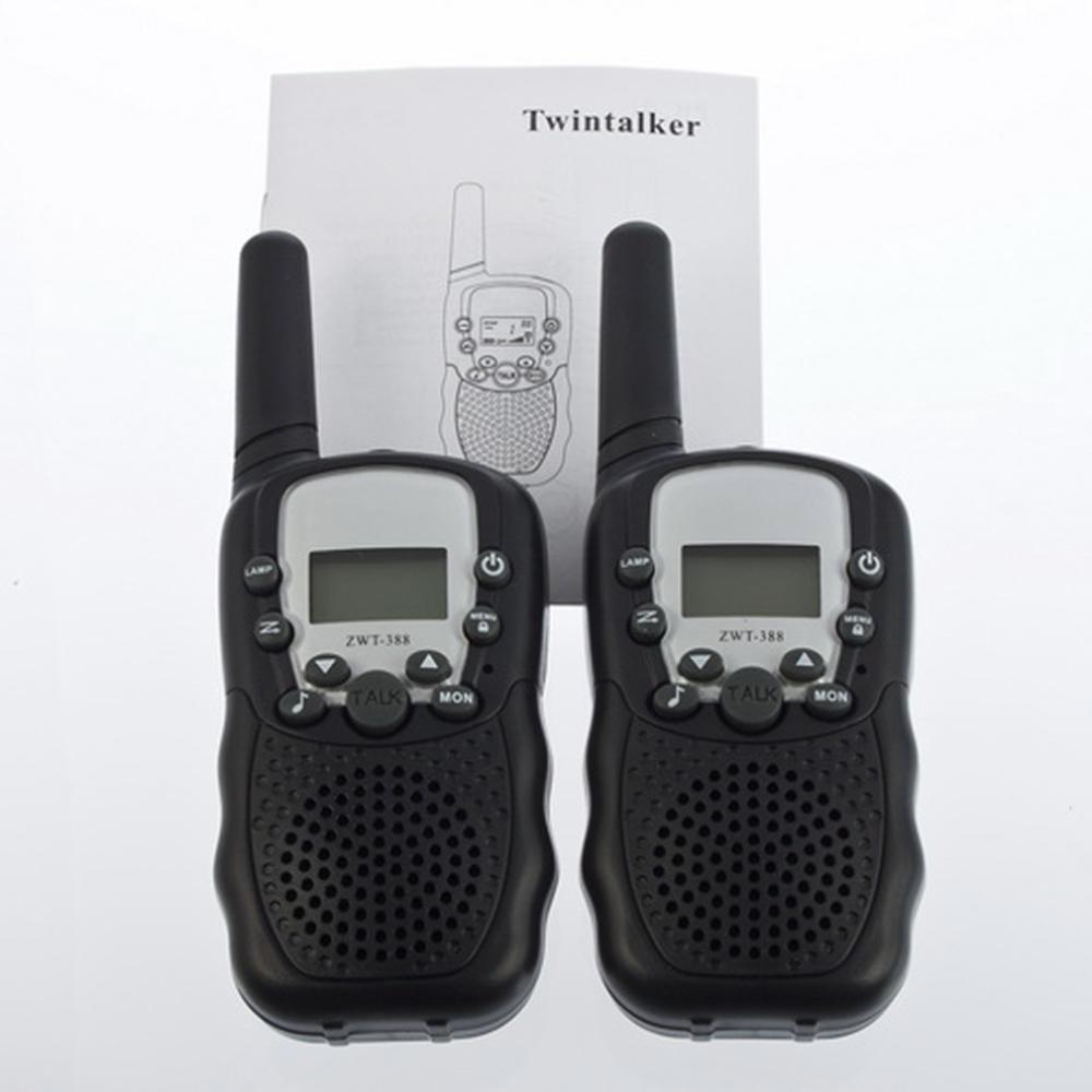 1set LCD 5km UHF Auto Multi Channels 2 Way Radio Wireless Walkie Talkie T 388 Brand