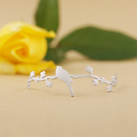 $10 free shipping Fashion jewelry silver gold plated bird ring lady wedding