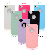 Fashion new pink cute flower lace love heart lovers couples hard pc back case cover for iPhone 5s wholesale 20pcs/lot (E55)