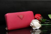 2013Ladies wallet ladies long cross grain original leather wallet P's wallet