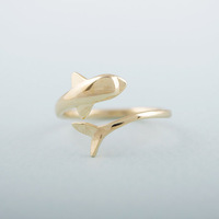 $10 free shipping Cute adjustable Dolphin Ring women High Quality