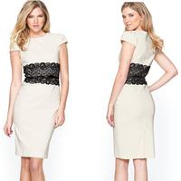 Party Midi Celeb Pencil Dress 2014 New Elegant Stretchy Belted Casual Bodycon Bandage Dress Women Work Wear Office Dress 9020
