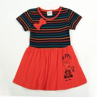 Wholesale Nova kids wear peppa pig clothing embroidery peppa pig 2013 new baby girls short sleeve peppa pig dresses H4099