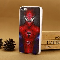 Luxury spiderman Case For apple i Phone iphone5c iPhone 5c 5 c Hard Cover New Arrival fashion cases covers 1 Piece Free Shipping
