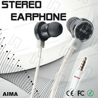 Promotion ! AIMA Fashion 3.5mm Mobile Earphones with Mic,of Cheap Price,4 Colors,Retail Package for Gifts,Free Shipping..