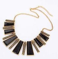 Fashion Vintage Geometry Color Block Necklace Punk cxt94558 Four Colors