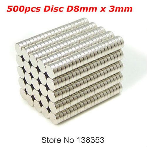 Гаджет  500pcs Bulk Super Strong Rare Earth Neodymium Magnets Dia 8mm x 3mm N35 Small Round NdFeB Disc Magnet Sheets None Строительство и Недвижимость