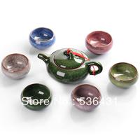 Special offers , Tea set calvings glaze dehua cup 7 set tea set  free shipping,
